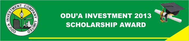 Odua Investment 2013 Scholarship header